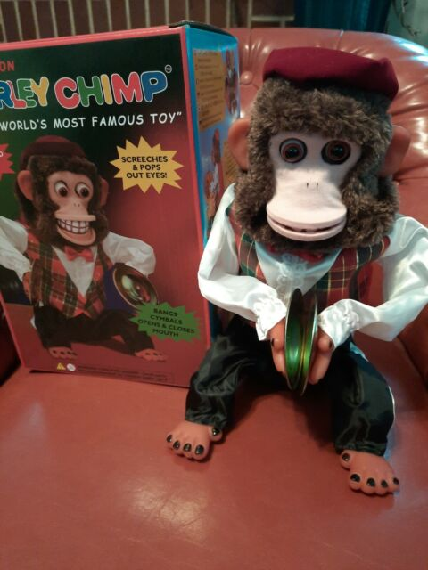 Vintage Multi-Action CHARLEY CHIMP Battery Operated Cymbal Playing Monkey Toy