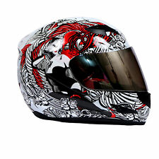 THH - Full Face Helmet - TS 42 - White Red Lady