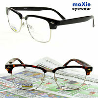 Bifocal Readers Men's Browline Metal Retro 60's Moxie 125-300 Vintage Style