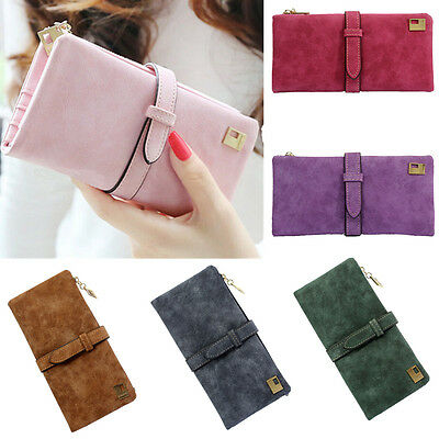 Fashion Women Leather Long Bifold Purse Zipper Clutch Handbag Wallet Card Holder