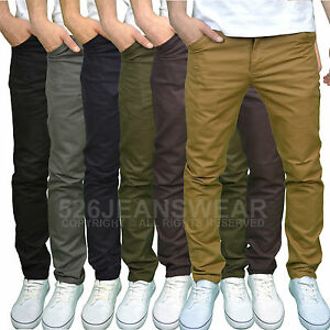 Twisted-Faith-Mens-Designer-Slim-Fit-Chinos-Available-in-5-Colours-BNWT