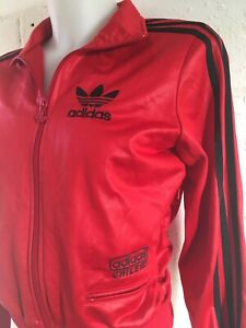 Adidas-Women-039-s-Chile-62-Tracksuit-Top-Size-XS-Red-Black-Jacket