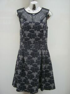 Warehouse-Floral-Netted-Knee-Length-Lined-Occasion-Party-Dress-Size-12