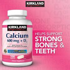 Kirkland Signature Calcium 600 mg + D3, 500 tablets STRONG BONES & TEETH - NEW