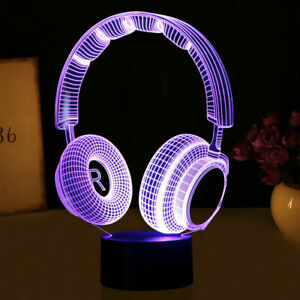 Wireless-Headphone-Music-3D-Acrylic-LED-Night-Light-Touch-Xmas-Desk-Lamp-Gift