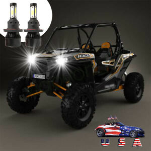 4side H13 Led For Atv Polaris Ranger 570 800 900 Rzr 570 800 900 Headlight Bulbs Ebay