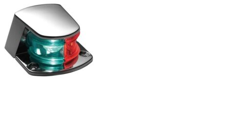 LED COMBINATION DECK MOUNT BOW NAVIGATION LIGHT FOR BOATS 12 VOLT RED /& GREEN