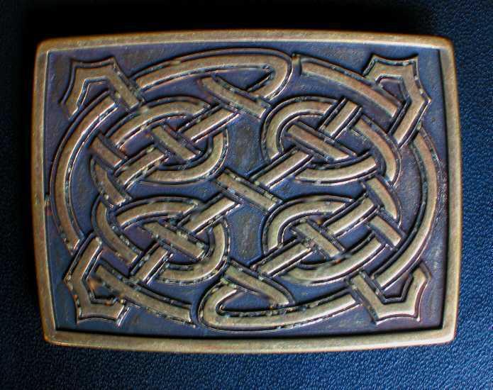 PREMIUM Gürtelschnalle NEU Mittelalter FLECHTMUSTER Celtic KELTISCHER Knoten F.e