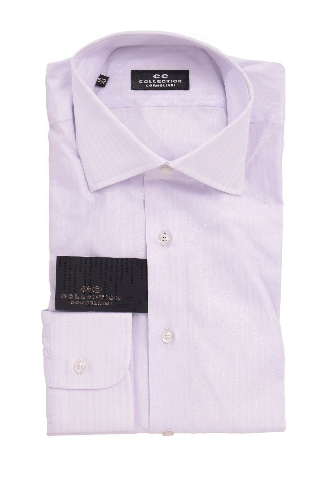Collection Corneliani Light lila Cotton Blend Dress Shirt 16 41 Made in
