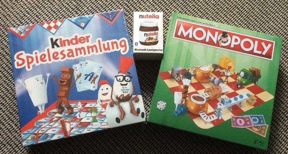 Ferrero  Monopoly Kinder Spiele Sammlung + Blautooth Lautsprecher    OVP