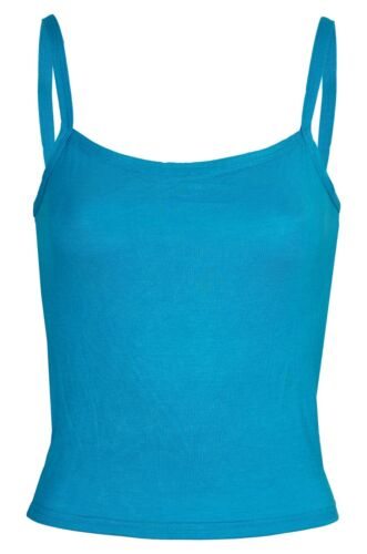 BNWT Ladies Strappy Sleeveless Crop Stretch Viscose Vest Top Sizes UK 8-14