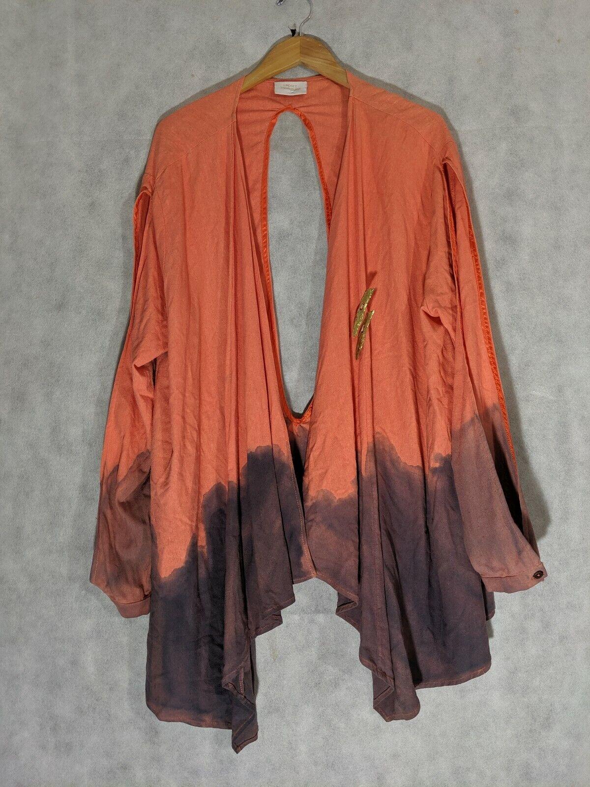 Lindsey Thornburg  teñido Ombre Trasera Brazo hendidura Cochedigan tamaño una seda cruda  Precio por piso
