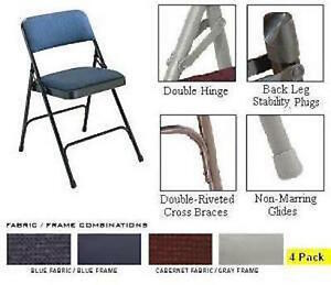 Sensational Details About Premium Nps 2200 National Public Seating Fabric Upholstered Folding Chair 4 Pack Ocoug Best Dining Table And Chair Ideas Images Ocougorg