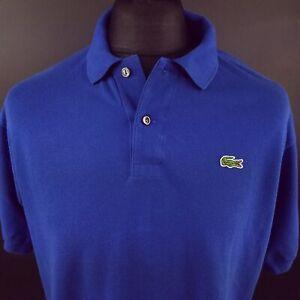 Lacoste-Mens-Polo-Shirt-5-MEDIUM-Short-Sleeve-Blue-Regular-Fit-Cotton