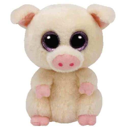 """Ty Beanie Boos 6/"""" Piggley Pig Plush"""