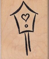 Stylized Birdhouse Art Impressions Wood Mounted Rubber Stamp 2 X 3 Free Ship