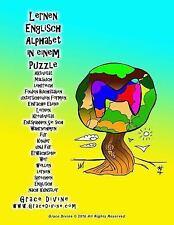 Lernen Englisch Alphabet in Einem Puzzle Aktivität Malbuch Lehrreich Finden...