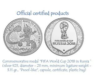 Official-Commemorative-medal-token-Fifa-World-Cup-2018-Silver-Ag-925-PROOF