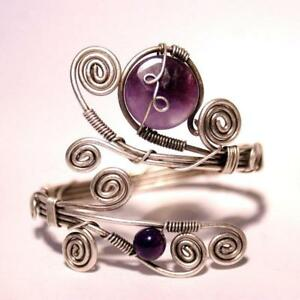 Handmade-Purple-Amethyst-Cuff-Bracelet