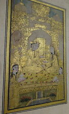 Antique Very Old Persian Illuminated Islamic Manuscript Miniature Painting