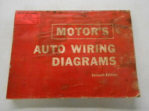 Details about Motor's 7th Edition Auto Wiring Diagrams Manual 1963-1967 on