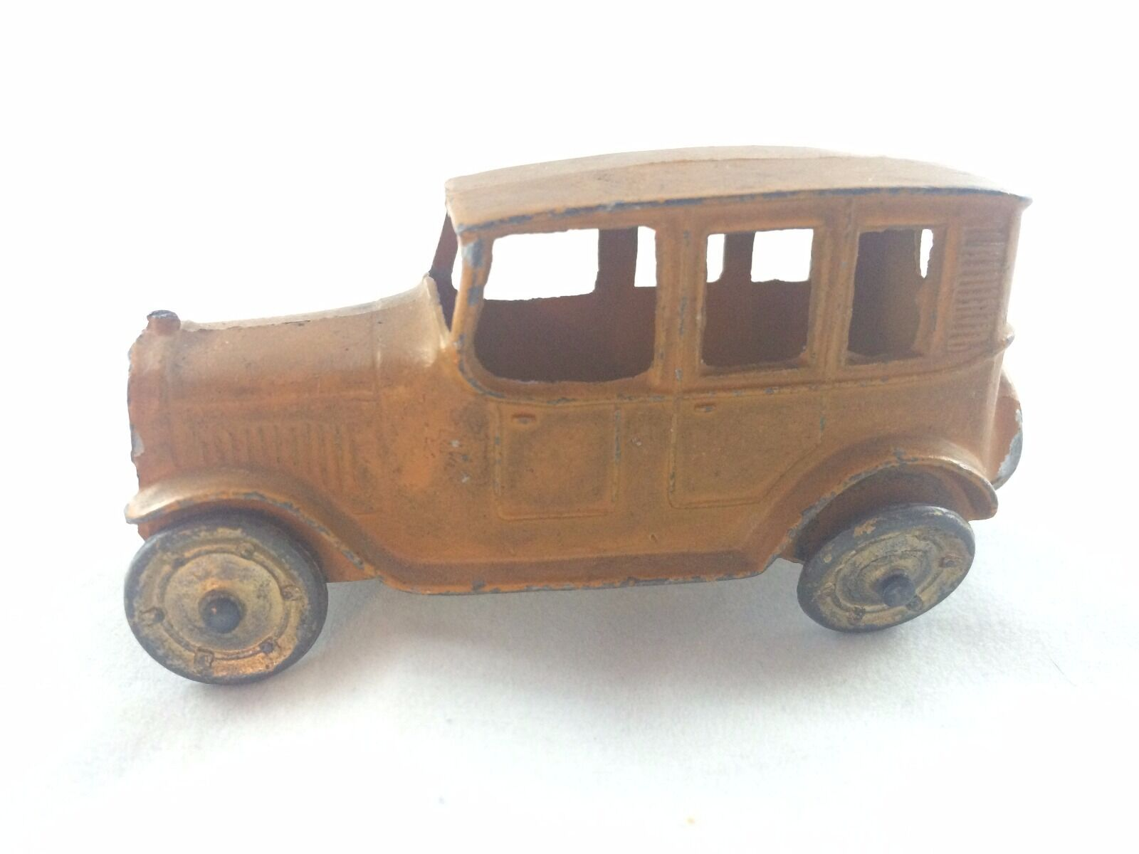 TootsieToy 1920's Taxi Cab giallo Original Diecast