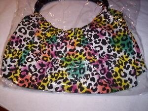 1 Ladies bag purse women Bag RAINBOW LEOPARD new FREE SHIP Carry NEW GIFT