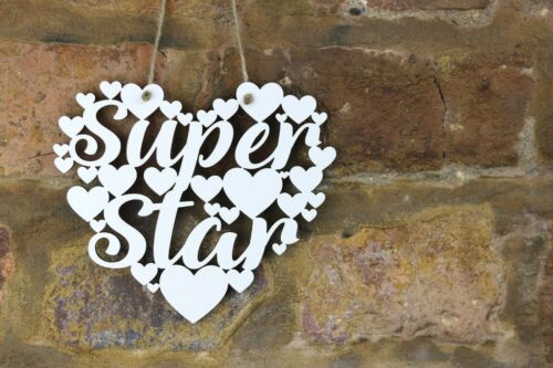 Super Star White Love hanging heart decoration well done Congratulations gift