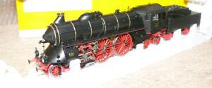 BRAWA-0652-9755-locomotiva-vapore-15-001-DRG-nero-telaio-rosso-DCC-SOUND-fumo