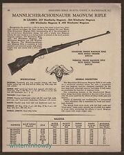 1968 MANNLICHER-SCHOENAUER Magnum Rifle AD w/prices for Standard & Premium Grade