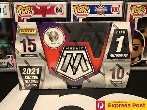 2021 PANINI MOSAIC UEFA EURO 2020 SOCCER FOOTBALL HOBBY BOX 150 CARDS - 1 AUTO