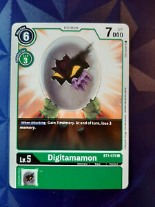 GREEN PALMON BT1-067 U Digimon Card 2020 ENGLISH