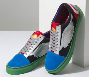 Details about Brand NEW! Vans x Marvel Avengers Old Skool Size 8.5 Men's Captain America Comic
