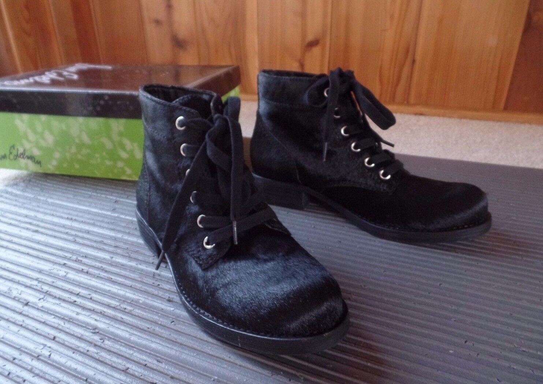 Nuevo Sam Edelman Bleecker Negro botas al Tobillo Militar Tamaño 6 US