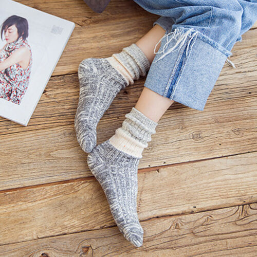 Spell Color Socks Casual Cotton Winter Warm Breathable Women/'s Socks b