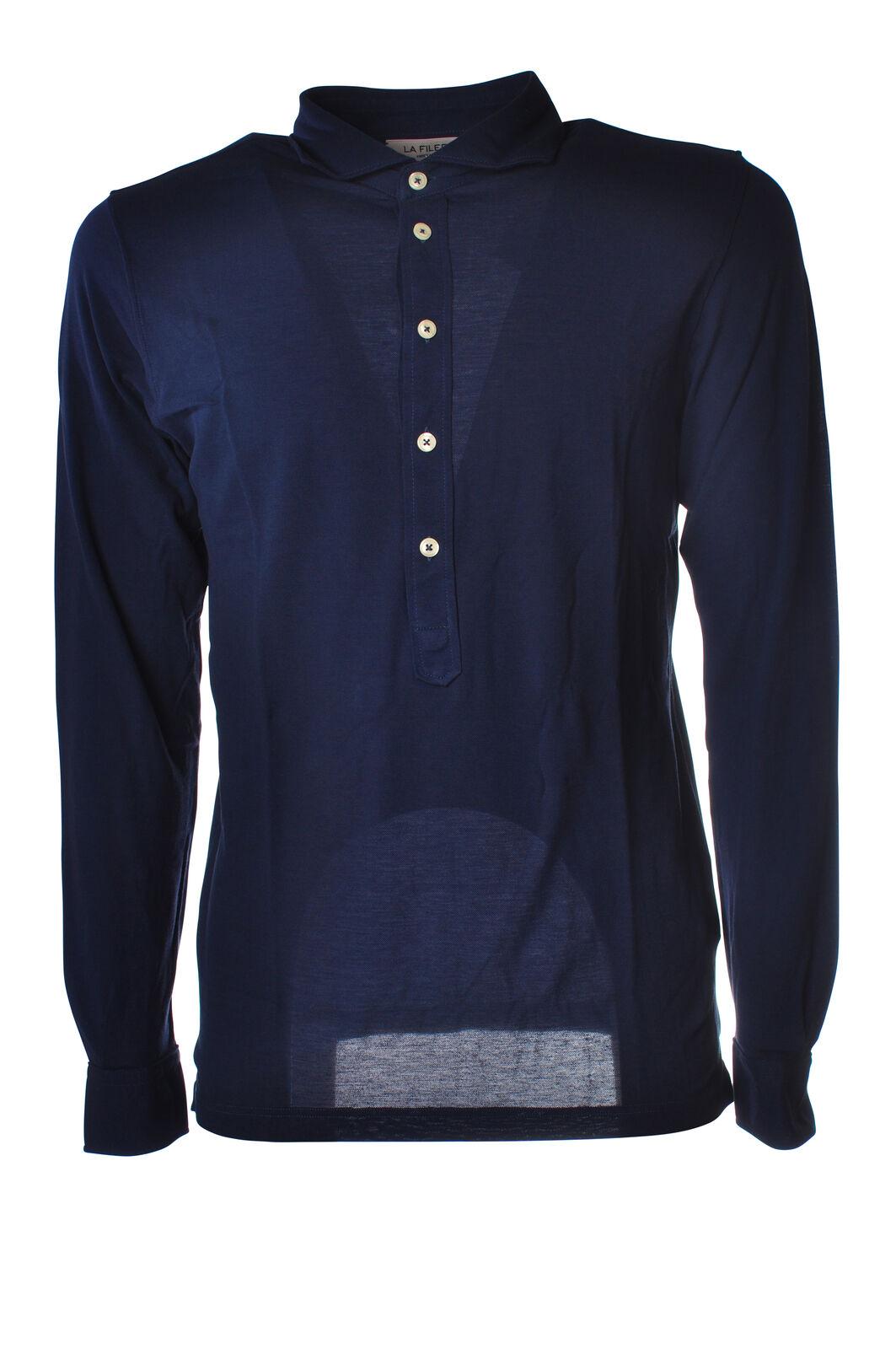 LA FILERIA - Topwear Polo - Mann - Blau - 5219516D181122