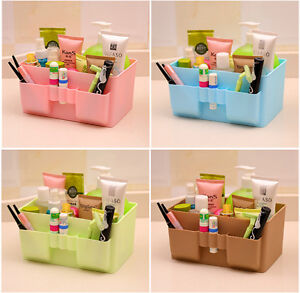 Desk desktop storage holder tray plastic makeup organizer - Desk makeup organizer ...