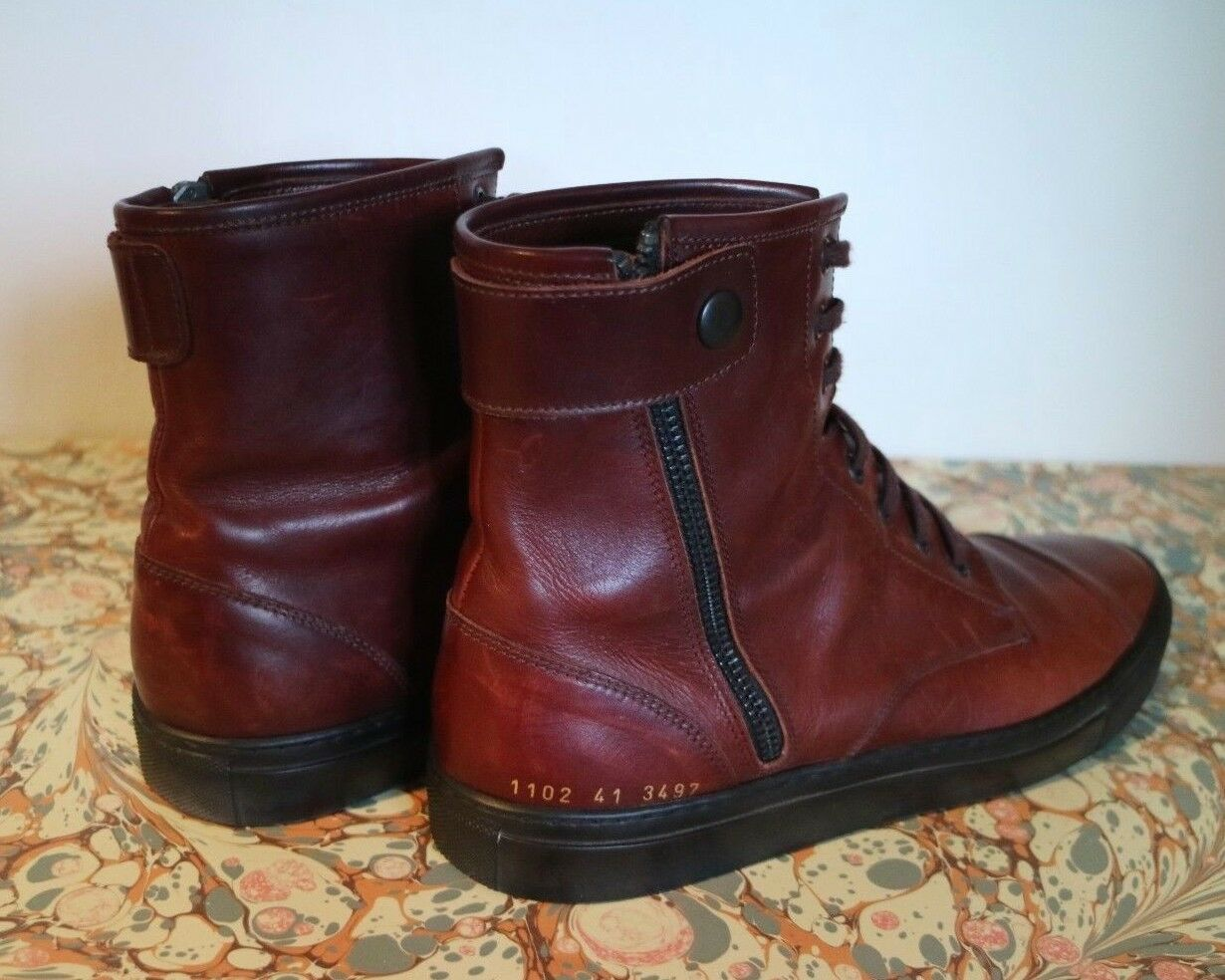 COMMON TRAINERS PROJECTS AGED CALFSKIN BURGUNDY TRAINERS COMMON adb0df
