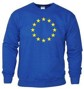 Felpa-dell-039-Unione-Europea-UE-FLAG-brexit-EURO-STELLE-rimangono-regalo-di-compleanno-Uomini-Top