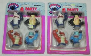 Vintage-Retired-Street-Sharks-4-PARTY-CANDLES-New-Old-Stock-1995-Unique