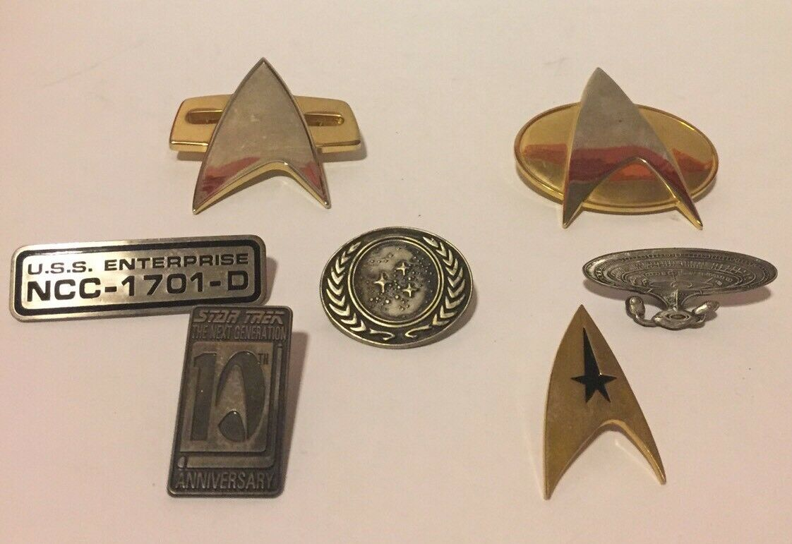 VINTAGE - Star Trek Pin 7 Lot