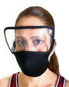 Washable Reusable Foam Face Mask With Eye Shield Ebay