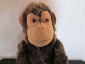 Steiff-Jocko-Monkey-Vintage-Mohair-Sleeveless-Button-7-7-8in