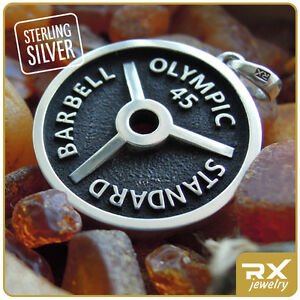 Details About Weight Barbell Olympic Dumbell Powerlifting Bodybuilding Jewelry Fitness Charm