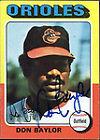 1975 Topps Don Baylor Baltimore Orioles #382 Baseball Card
