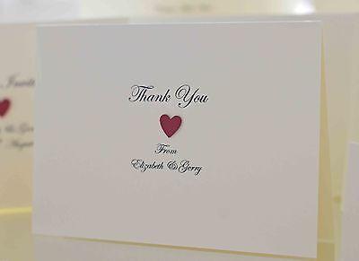 10 X Wedding Cartoline Di Ringraziamento (personalizzata & Realizzata A Mano)-