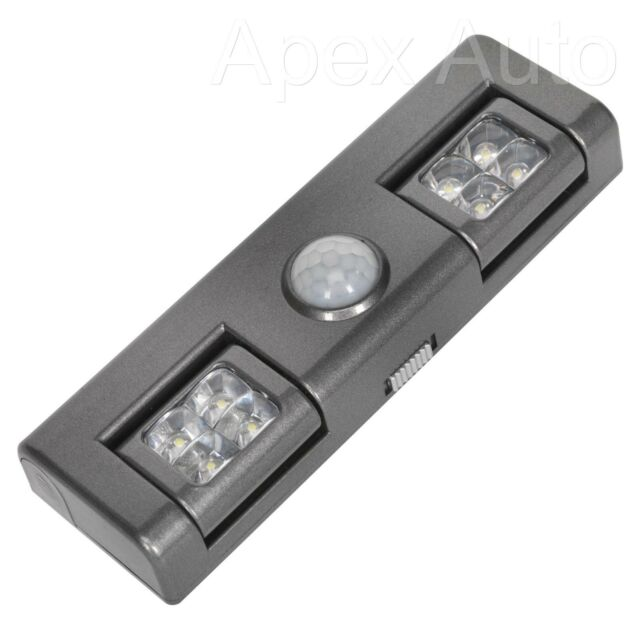 Wireless Sensor Lights Automatic PIR 8 x LED Battery Operated  = Place anywhere