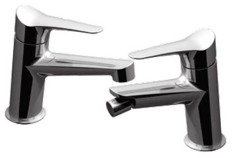 Rubinetto miscelatore bagno per lavabo e bidet como modello Flap Palazzani
