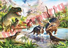 Cialda Ostia per torte Dinosauri Dinosauro personalizzabile anche tonda o A3!