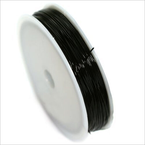 20 Mètres Black Wire Nylon Elastic 0,5mm